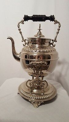 """Vintage Ostberg Tea/Coffee Silverplate, With Warming Stand Sweeden 14"""" Tall!"""
