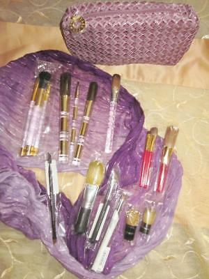 16 Pc Mixed Brush Lot Bareminerals-Estee Lauder-Lancome+More-All Authentic