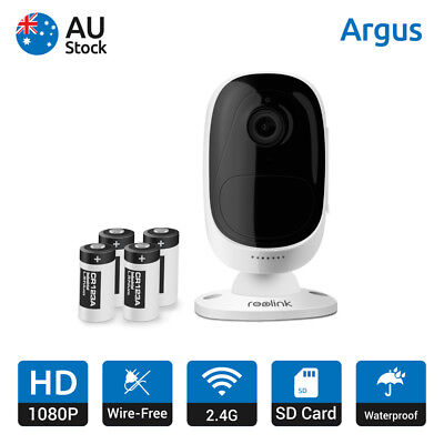 Wire-Free Battery Powered Wireless Security IP Camera Waterproof Reolink Argus