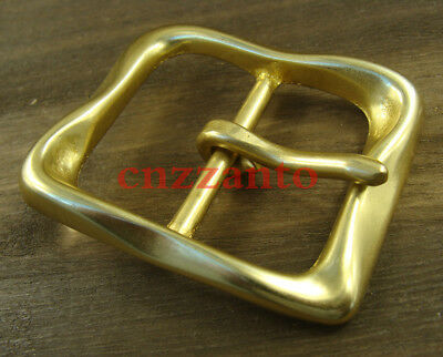 "Heavy duty Solid Brass Classical Tongue Pin Hippie Belt Buckles 1 1/2"" Z265"