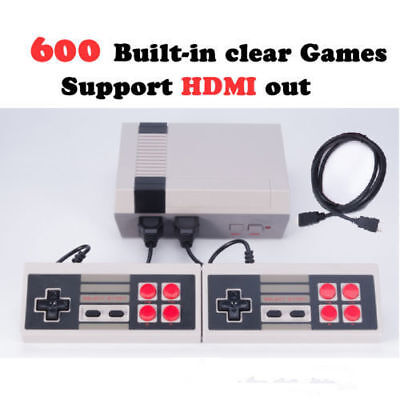HDMI Edition Entertainment Console Built-in 600 Classic Retro Games Family Gift