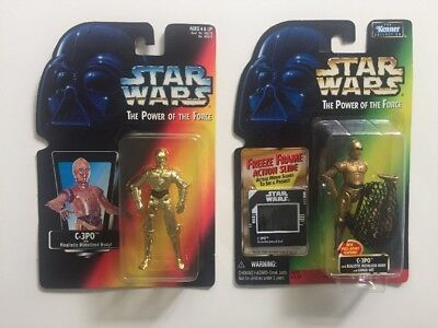 Star Wars The Power Of The Force C-3PO Carded Figures