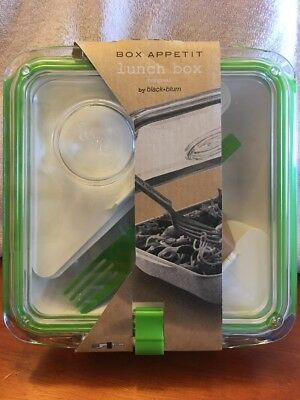 Black + Blum Box Appetit Lunch Box Food Container Travel Bento Lime Green