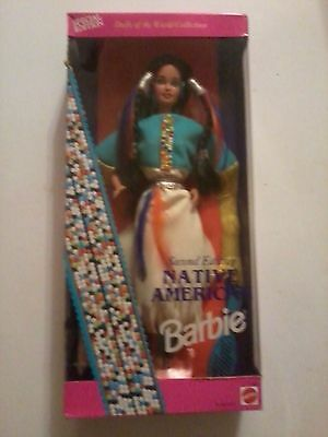 Native American Barbie (Dolls of the World) Second Edition  1993/NEW
