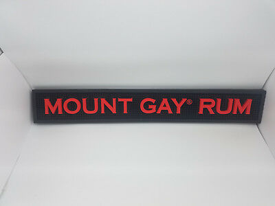 Mount Gay Rum Heavy Duty Rubber Runner Bar for Man/Woman Cave or Bar