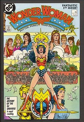 Wonder Woman #1 (1987)~New Origin~Wraparound cover~George Perez~NM-