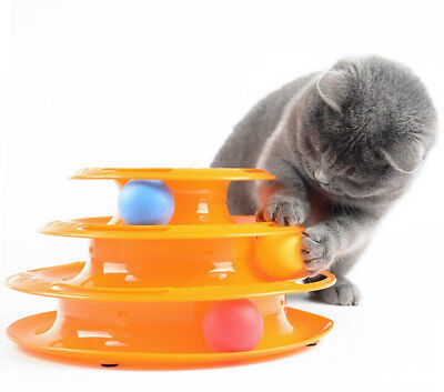 Tower of Tracks Cat Toy Tower of Tracks Ball and Track Interactive Toy for Cats