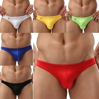 Trendy Men's Low Rise Swimming Brief Bikini Trunks Swimwear Beachwear Underwear