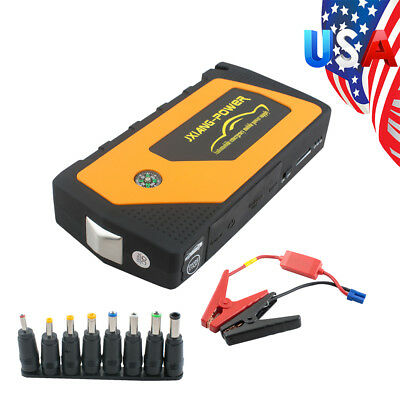 Battery Jump Starter 600A Peak Car SUV Charger Booster Jumper Cables /LED light