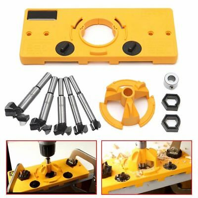 35MM Concealed Hinge Jig Boring Hole Drill Guide + Cutter Bit Set For System