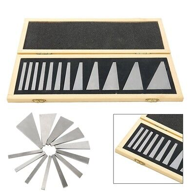 12 Pcs Precision Angle Block Set 1/4°- 30° Lathes Milling Ground Gauge Tool