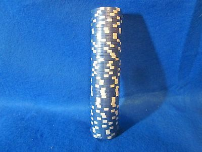 50 Blue Striped Crown 11.5g CASINO Quality Clay Poker Chips