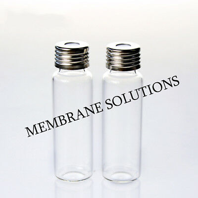 20ml Clear sample spiral glass With pads chromatographic analysis bottle lab NEW