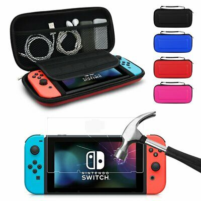 For Nintendo Switch Hard Case Travel Protective Cover Bag + Screen Protector