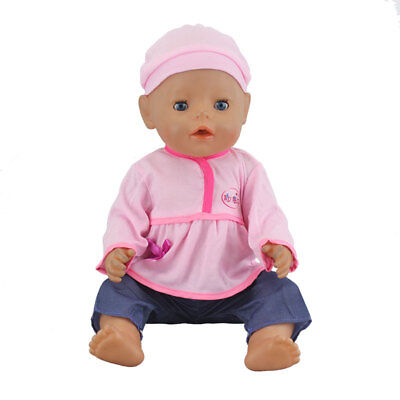 Sport 1Set Doll +Hat Wearfor 43cm Baby Born zapf(only sell clothes)