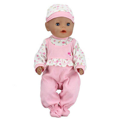 Pink set new jumpsuits Wearfor 43cm Baby Born zapf (only sell clothes)