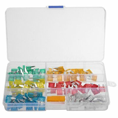 120Pcs 5A-30A Assortment Low Profile Micro Mini Blade Fuse Set Kit Car Truck NEW