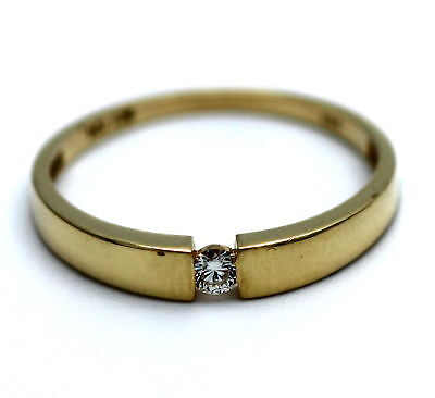 Wert 440,- Lupenrein Solitär Brillant Spann Ring In 585 / 14 Kt Gold