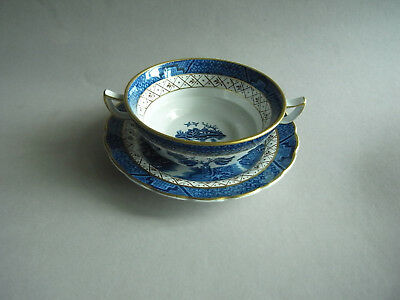 """Suppentasse mit Untertasse, Booth """"Real old Willow"""" A8025, 15,5 cm"""