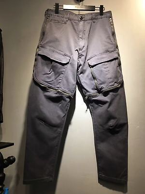 Falection 17fw Stone Fashion Washed Black Pants Pocket Trousers for Hiking