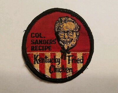 Vintage Kentucky Fried Chicken Embroidered Uniform Patch Colonel Sanders Recipe