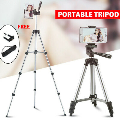 Telescopic Camera Tripod Stand Holder Mount +Carry Bag For Phone iPhone/Nikon DV