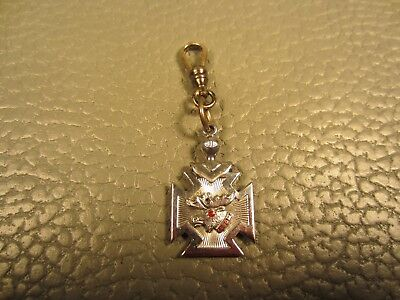 Victorian Silver Plated Loyal Order of Moose Watch Fob Pendant