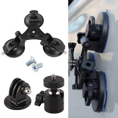 Triple Suction Cup Mounts Glass Sucker Car Holder For GoPro Hero 7 6 5 4 3Camera
