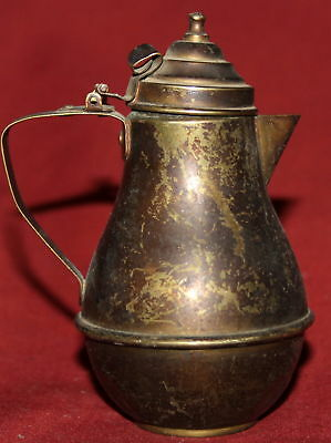 Antique Small Islamic Hand Made Tin Coffee Tea Pot Pitcher