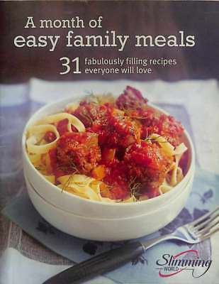 Slimming World - A Month of Easy Family Meals 48 page booklet 31 recipes