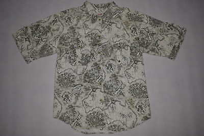 On Safari Hemd Button Down Shirt Hawaii Australia New Zealand Map Sailing S-M