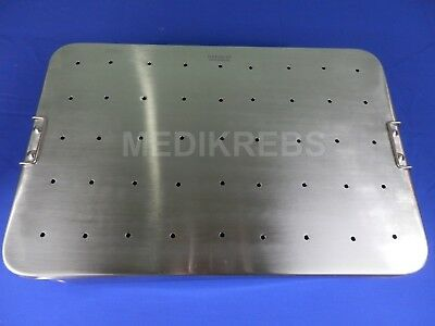 "Instruments Sterilization Tray perforated 45x30x12 cm German Steel ""KREBS"""