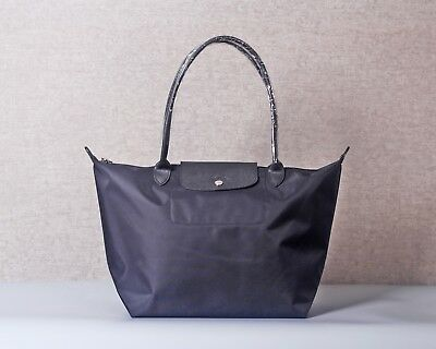 Authentic Longchamp - Le Pliage NEO Tote Bag Large Nylon - Black- Made in France