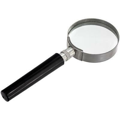 USA 10X Magnification Handheld Magnifier Magnifying Glass Handle Low Vision Aid
