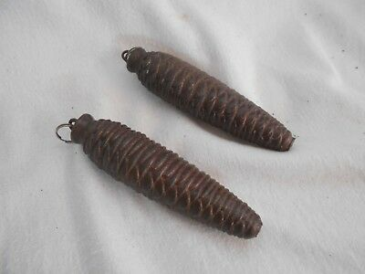 Antique VINTAGE Acorn Weight for CUCKOO CLOCK Restoration SPARES Repairs 15cms