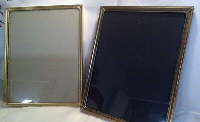 Brass Metal Gold PICTURE photo FRAME  8x10 mid century ornate