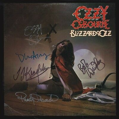 Randy Rhoads Signed Ozzy Signed Album Full Band Signed Coa Ticket Included
