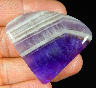 69 Ct 100% Natural Purple Amethyst Lace Agate Fancy Cabochon Loose Gemstone C256