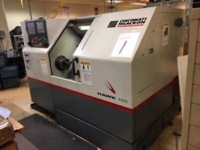 Used 1998 Cincinnati Hawk 150 CNC Turning Center Lathe Fanuc Prototype Machine