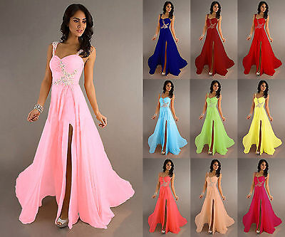 Long Chiffon Wedding Formal Party Ball Gown Prom Evening Bridesmaid Dresses 6-20