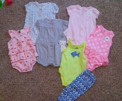 Baby girl 6 months carters spring summer rompers clothes outfitslot