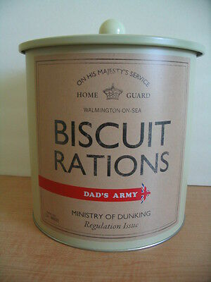 Cookie Jar English Biscuit Unique Retro Tin Storage Canister Dad's Army