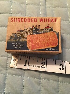 Vintage NABISCO Shredded Wheat Cereal Box Sample 1930's  or toy
