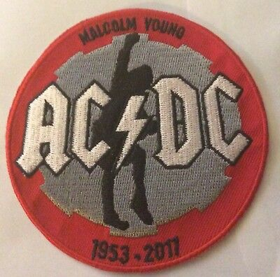 AC/DC MALC YOUNG TRIBUTE IRON ON PATCH BUY 2 We Send Three Of These