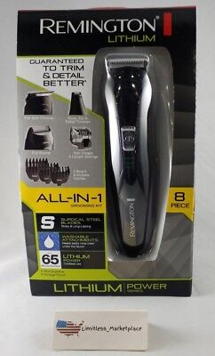 Remington Lithium PG6025 All-In-1 8 Piece Grooming Kit  - Electric Razor Shaver