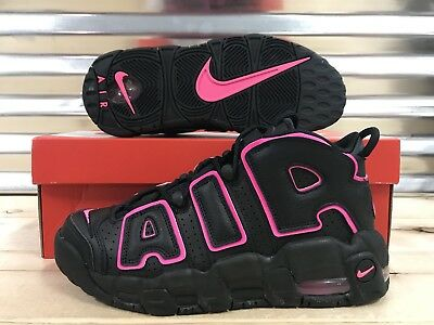 Nike Air More Uptempo GS Basketball Shoes Pink Blast Black SZ ( 415082-003 )