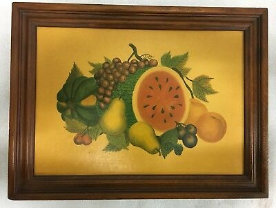 Vintage 1965 Three Mountaineer Hidden Spice Rack Fruit Picture Cover RARE