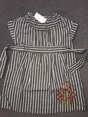 Tea Collection, Girls, Dress, Indigo w/ White Pin Stripe, Style 8D22532