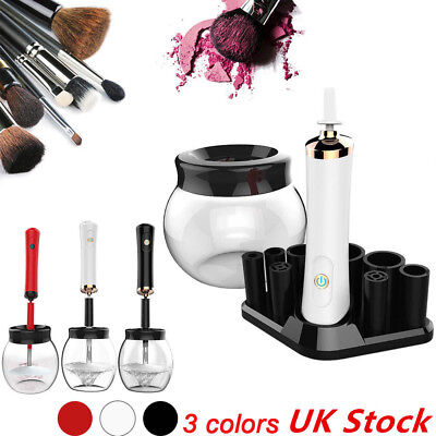 Electric Auto Cosmetic Makeup Brush Cleaner + Dryer Washing Machine Tool Kits UK