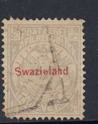 Swaziland, Swazieland. 1892. 1/2d. Gray. SC# 9. SG 10. Red Overprint - used